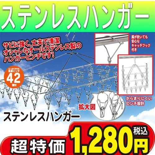 ステンレスピンチハンガー ステンレスハンガー 42ピンチ ステンレス角型ハンガー 42ピンチ ステンレス ハンガー ステンレス 洗濯ハンガー