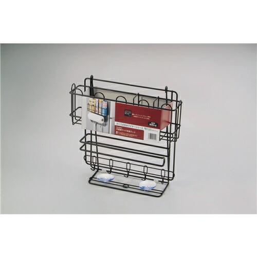 パール金属 ストレージブラック 冷蔵庫 サイド収納ラック H-6014 P12Sep14