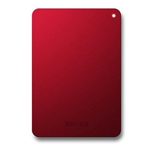 バッファロー/BUFFALO ミニステーション ターボPC EX2対応 耐衝撃 USB3.0ポータブルHDD 1TB レッド HD-PNF1.0U3-BR