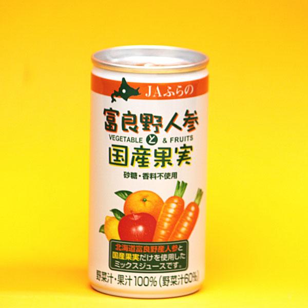 富良野 人参と国産果実のミックスジュース 190g×30缶 ジュース P12Sep14