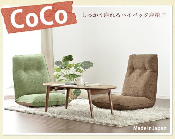 「COCO」 ハイバック座椅子SHB リクライニング こたつ(代引き不可) P12Sep14