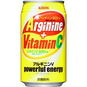 アルギニンV パワフルエナジー ビタミンC 栄養補給炭酸 350ml×24本 1ケース キリン(代引き不可)  P12Sep14