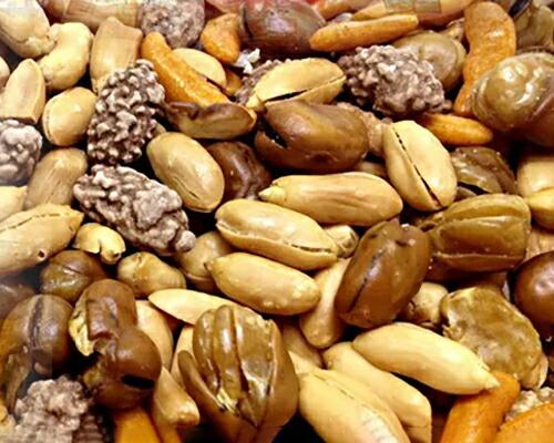 てんこ盛り☆おつまみナッツどっさり2kg(1kg×2)(さきいか入り!)(代引き不可) P12Sep14