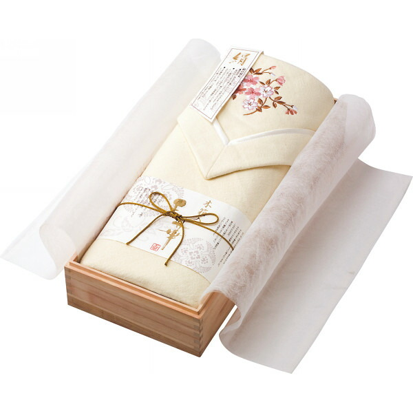 王華 シルク混綿毛布(木箱入) OK1408 P12Sep14