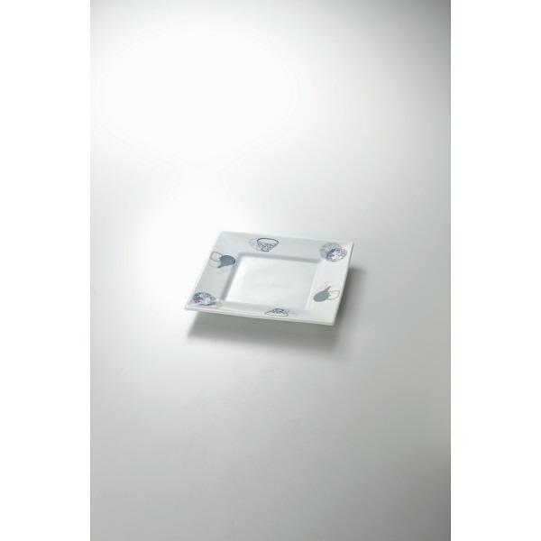 うつわ紋様 8寸角皿 HT−294709 P12Sep14