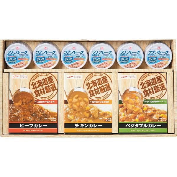 北海道レトルトカレー6箱&ライトツナリセッタ缶詰セット HTC−30 P12Sep14