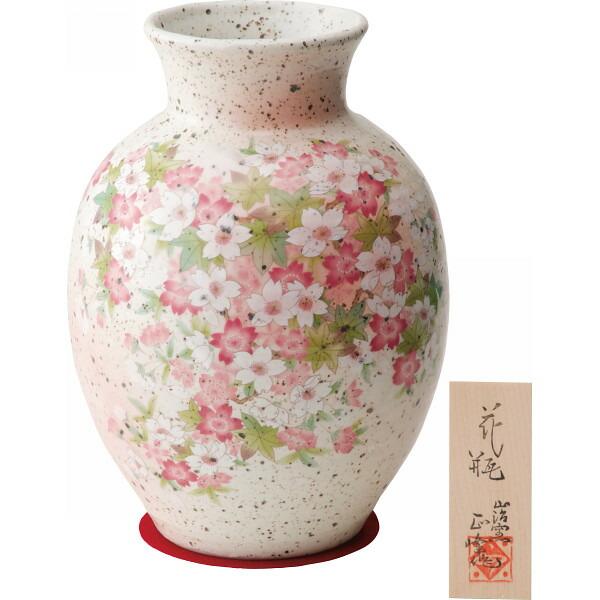 志野 8号花瓶 桜紅葉 YJ14‐01 P12Sep14