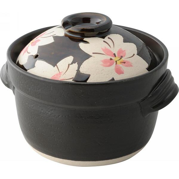 萬古焼 桜花 ごはん鍋 三合炊き H2339 P12Sep14