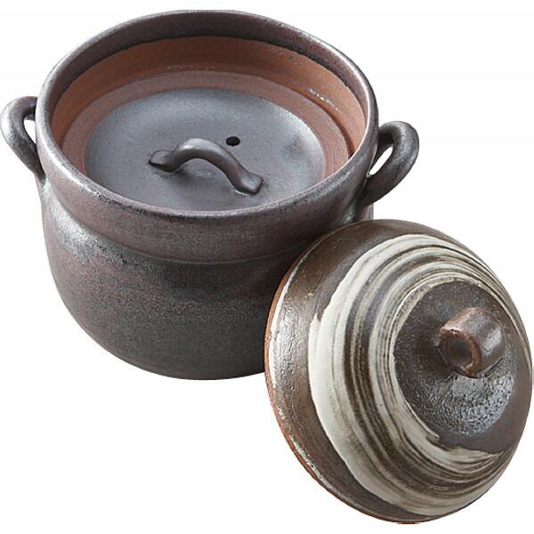 萬古焼 たつみ窯 手造りごはん鍋 2合炊き Y2015 P12Sep14