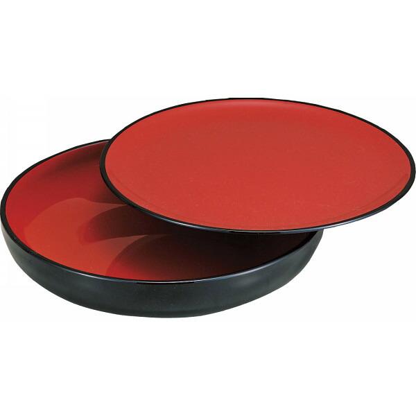 黒内朱 盛鉢(皿付) M13658 P12Sep14