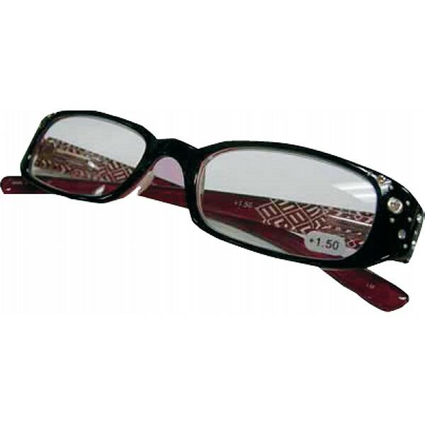 スタイリッシュ老眼鏡(度数1.5、2.0、2.5) ブラック +2.5 XS01 +2.5 エクシーン P12Sep14