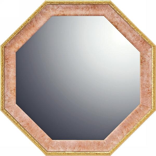 ヴィンテージ八角ミラー(19.5cm) ピンク VM−02002 P12Sep14