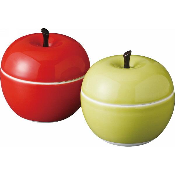 りんご ペア蓋物(R&G) 52389 P12Sep14
