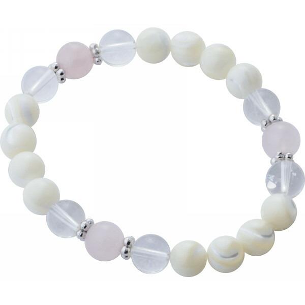 天然石ブレスレット ホワイトカラー BFBR−2123 P12Sep14