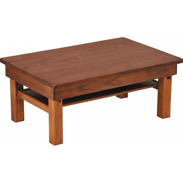 桐製折りたたみ式ミニテーブル ダークブラウン SNKー6040DB P12Sep14