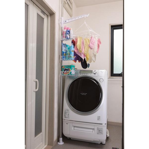 セキスイ つっぱり式洗濯機横シングルポール ステンレス&ホワイト DTP−13 P12Sep14