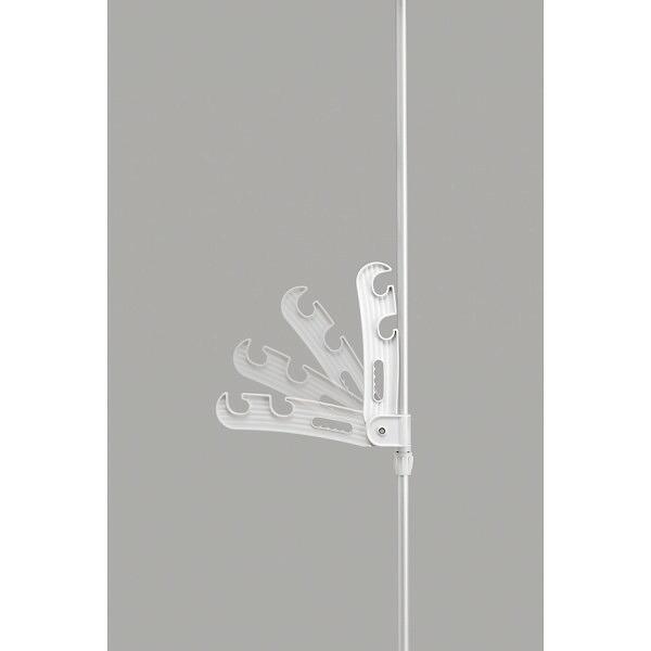 セキスイ つっぱり式窓枠ものほし2段式 シルバー&ホワイト TMT−102 P12Sep14