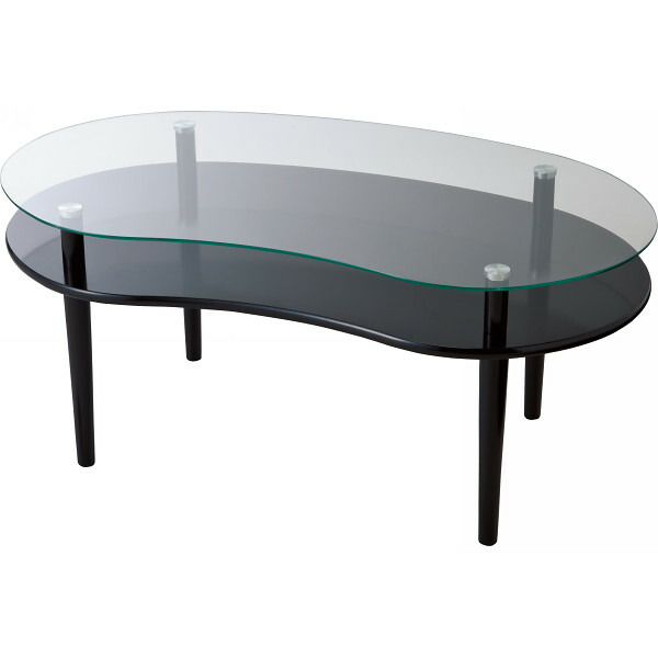 ガラステーブル ブラック RG−9039 BK P12Sep14
