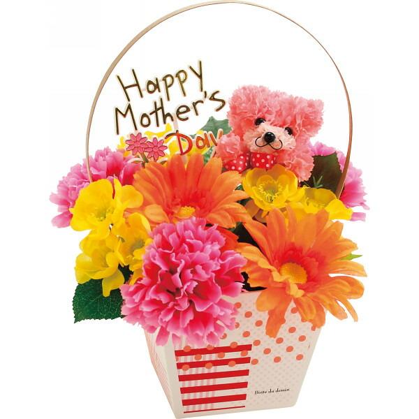 テルクリン くまさんのアレンジバッグ(アートフラワー) 母の日 2014 ギフト 母の日メッセージカード付き(代引き不可)