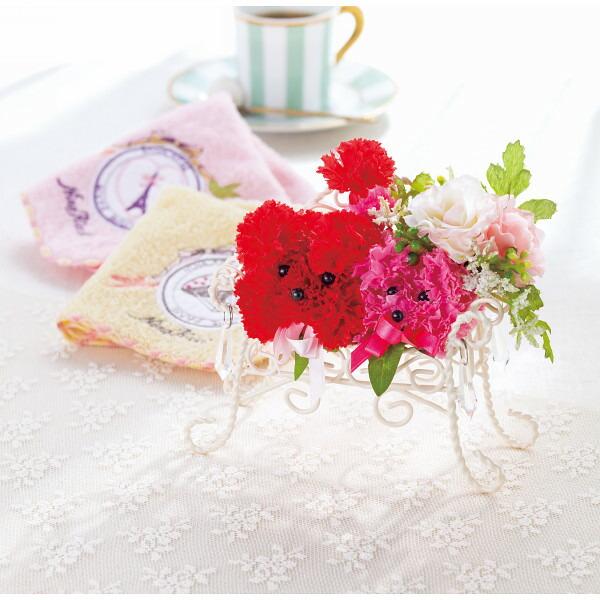 光触媒プードルアレンジ&ニナリッチ ペアハンカチセット 母の日 2014 ギフト 母の日メッセージカード付き(代引き不可)