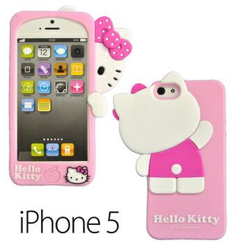 iPhone5ケース アイフォンケース シリコン ハローキティ ピンク かくれんぼ(代引き不可) P12Sep14