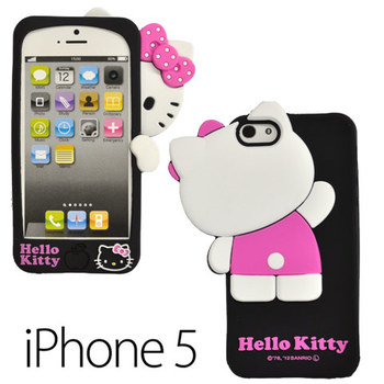 iPhone5ケース アイフォンケース シリコン ハローキティ ブラック かくれんぼ(代引き不可) P12Sep14