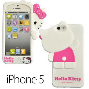 iPhone5ケース アイフォンケース シリコン ハローキティ ホワイト かくれんぼ(代引き不可) P12Sep14