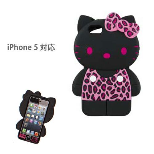 iPhone5ケース アイフォンケース シリコン ハローキティ ヒョウ柄ピンク(代引き不可) P12Sep14