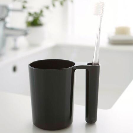 タンブラー&トゥースブラシスタンド 歯磨きコップ 歯ブラシスタンド ミスト ブラック(代引き不可) P12Sep14