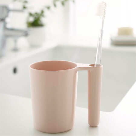 タンブラー&トゥースブラシスタンド 歯磨きコップ 歯ブラシスタンド ミスト ピンク(代引き不可) P12Sep14