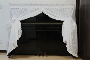 レースピアノカバー(リーフ) ピアノ カバー(代引き不可) P12Sep14