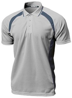 ベーシックテニスシャツ P-1710  ライトグレー P12Sep14