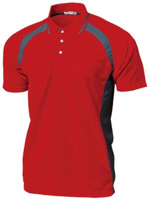 ベーシックテニスシャツ P-1710  レッド P12Sep14