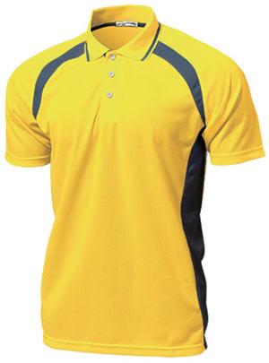 ベーシックテニスシャツ P-1710  イエロー P12Sep14