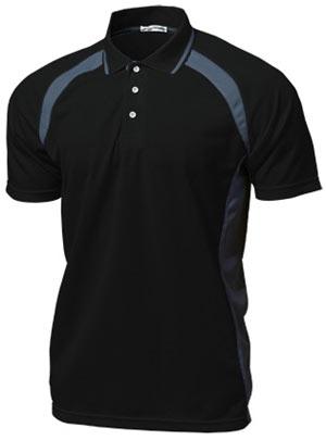 ベーシックテニスシャツ P-1710  ブラック P12Sep14