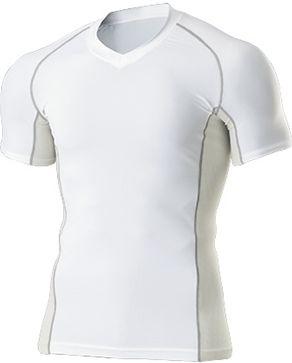 Vネックインナーシャツ半袖 P-7030  P12Sep14