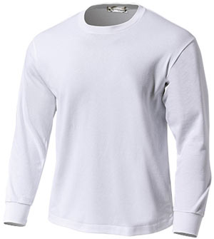 日本製スクール長袖Tシャツ P-950  ホワイト P12Sep14