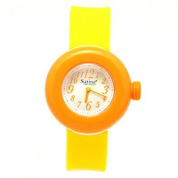 PIERRE HERME ピエール エルメ マカロン ウォッチ Satine サティーヌ レディース 腕時計 MAS-0141416 オレンジxイエロー P12Sep14