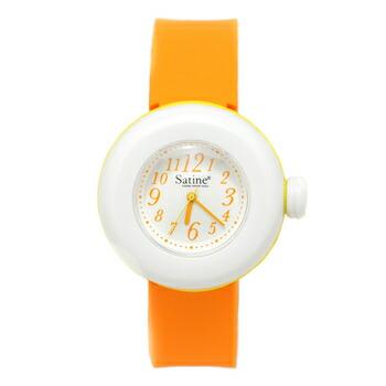 PIERRE HERME ピエール エルメ マカロン ウォッチ Satine サティーヌ レディース 腕時計 MAS-0141425 ホワイトxオレンジ P12Sep14