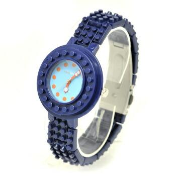 anoblock (ナノブロック) 腕時計 デコって遊べるリストウォッチ NAW3411-04 ネイビー×ブルー P12Sep14