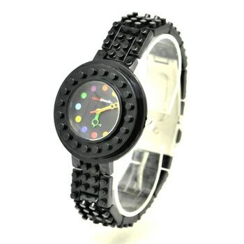 anoblock (ナノブロック) 腕時計 デコって遊べるリストウォッチ NAW3411-05 ブラック×ブラック P12Sep14
