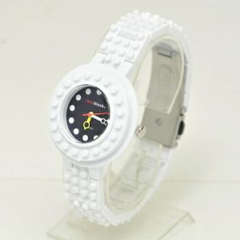 anoblock (ナノブロック) 腕時計 デコって遊べるリストウォッチ NAW3411-06 ホワイト×ブラック P12Sep14
