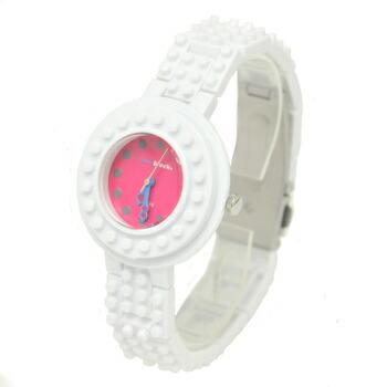 anoblock (ナノブロック) 腕時計 デコって遊べるリストウォッチ NAW3411-17 ホワイト×ピンク P12Sep14