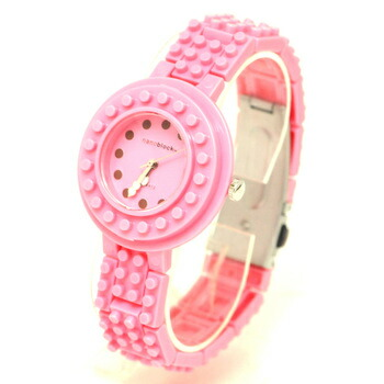anoblock (ナノブロック) 腕時計 デコって遊べるリストウォッチ NAW3411-22 ピンク×ピンク P12Sep14