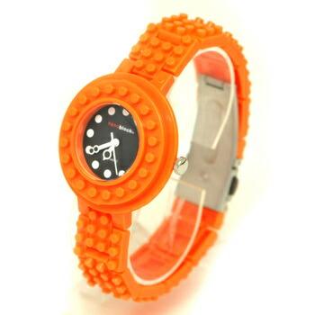 anoblock (ナノブロック) 腕時計 デコって遊べるリストウォッチ NAW3411-26 オレンジ×ブラック P12Sep14