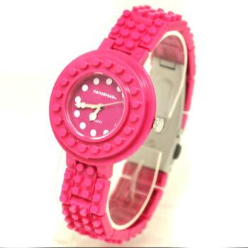 anoblock (ナノブロック) 腕時計 デコって遊べるリストウォッチ NAW3411-30 ローズピンク×ローズピンク P12Sep14