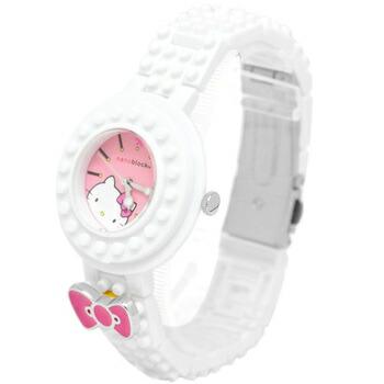 nanoblock×Hellokitty (ナノブロック×ハローキティ) 腕時計 デコって遊べるリストウォッチ NKA-8601-03 ホワイト P12Sep14