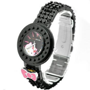 nanoblock×Hellokitty (ナノブロック×ハローキティ) 腕時計 デコって遊べるリストウォッチ NKA-8601-05 ブラック P12Sep14
