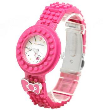nanoblock×Hellokitty (ナノブロック×ハローキティ) 腕時計 デコって遊べるリストウォッチ NKA-8601-30 ローズピンク P12Sep14