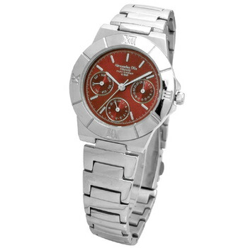Alessandra Olla アレサンドラオーラ 腕時計 マルチファンクション レディースウォッチ AO-900-5 レッド P12Sep14